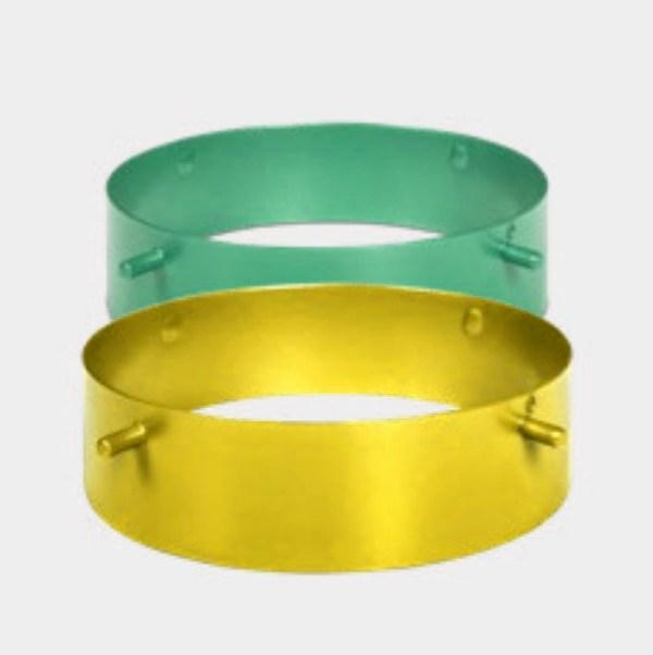 Ebolicht - Cup hanglamp - ringen groen en geel - Verlichting van Toen