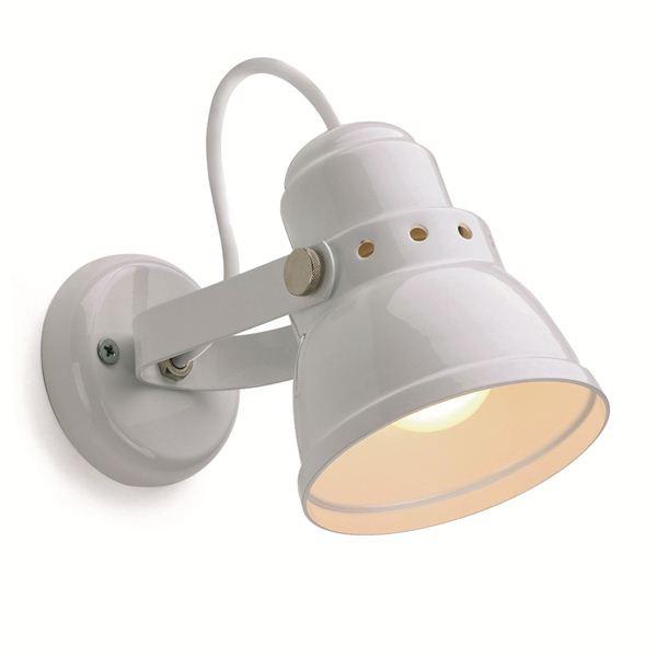 Sfeerbeeld Rotterdam klein wandlamp RAL 9010 wit - Verlichting van Toen