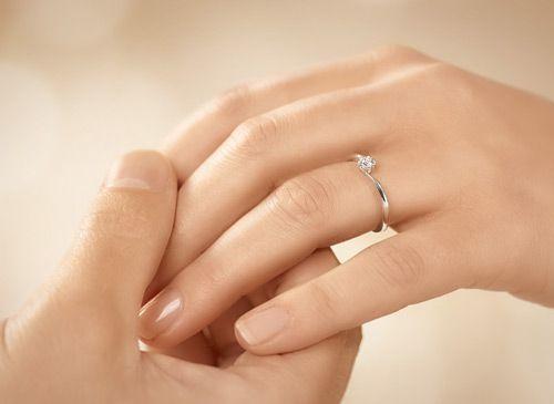 Verlobungsringe Weigold mit Diamant  Ja ich will
