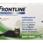 Frontline Spot On Chat Pipette Antiparasitaire/Merial – Boite de 6 Pipettes