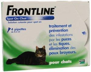 FRONTLINE Anti-parasitaire Puce et Tique pour chat 4 Pipettes