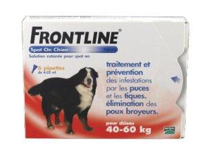 FRONTLINE Spot On Anti-parasitaire Puce et Tique pour Très grand Chien 40-60kg- 6 pipettes
