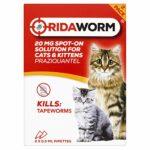 Ridaworm Lot de 2 Pots pour Chat Taille Unique