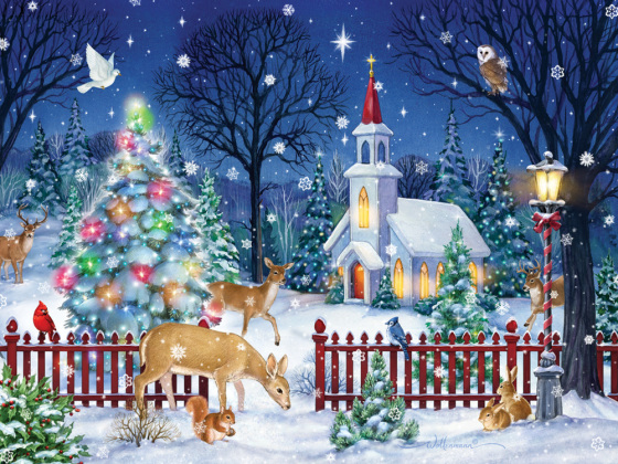 Peaceful Night Jigsaw Puzzle New Jigsaw Puzzles Vermont