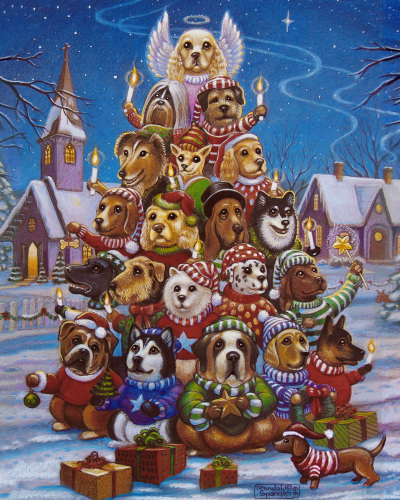 Cat In Fall Wallpaper White Canine Christmas Tree Jigsaw Puzzle 1000 Piece Puzzles