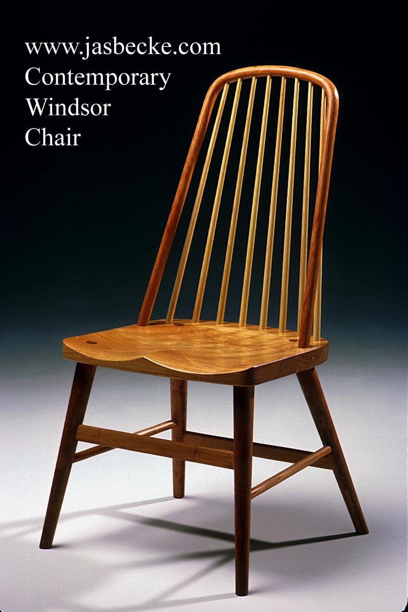 Contemporary Windsor Side Chair  Jas Becker Cabinetmaker