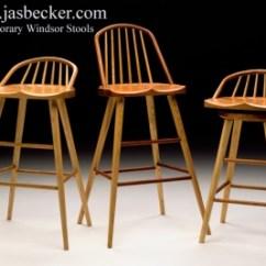 Swivel Kitchen Chairs Steamer Contemporary Windsor Stools | Jas. Becker Cabinetmaker ...