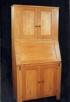 Painted Pine Desk Cabinet  Dorset Custom Furniture  Dan