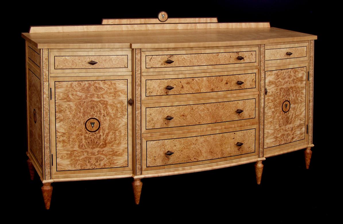 maple dining room chairs sturdy art deco cherry sideboard   dorset custom furniture dan mosheim