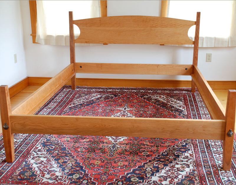 Cherry Hardwood Platform Bed  Hawk Ridge Furniture  St