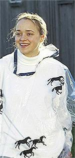 Rain Poncho Clear Vinyl With Horse Pattern