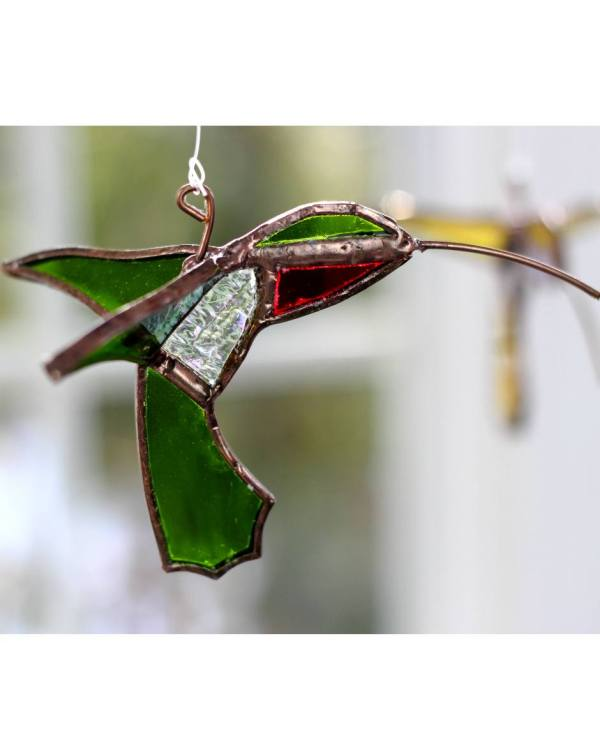 Stained Glass Hummingbird - Vermont Nature Creations