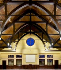 Arched Church Ceiling | Exposed Beams