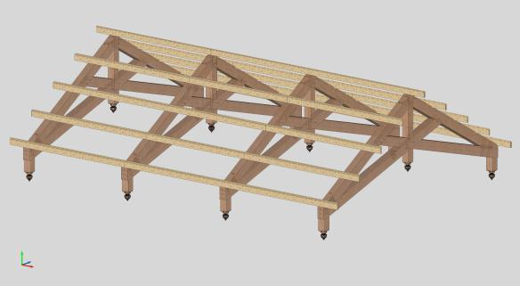How To Build Timber Frame Scissor Trusses | Fachriframe co
