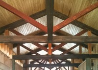King Post Trusses | Timber Frame Design | Wood Ceiling Beams