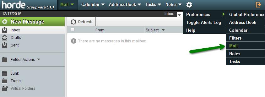 Prefernece Mail