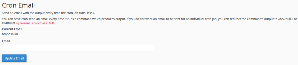 cron jobs email