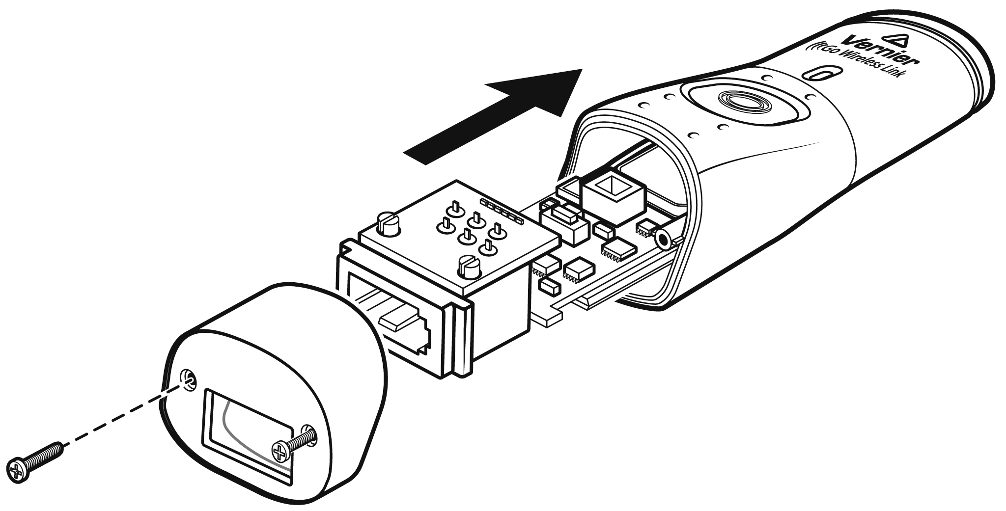 How do I remove or replace a Go Wireless Link battery
