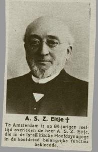 """Een drager van een """"ronde"""" naam: Abraham Salomon Zadok Eitje (CBG, collectie Veenhuijzen)"""