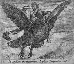 Antonio Tempesta (1555-1630): Ganymedes met de arend