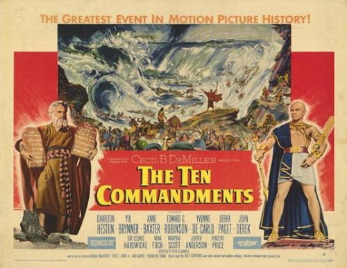 Charlton Heston als Mozes in The Ten Commandments (1956)