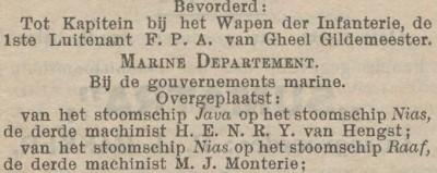 H.E.N.R.Y. van Hengst (Het Nieuws van den Dag voor Nederlandsch-Indië, 23 januari 1911)