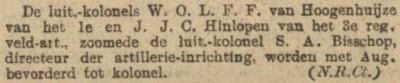 W.O.L.F.F. van Hoogenhuijze (Algemeen Handelsblad, 10 juni 1901)