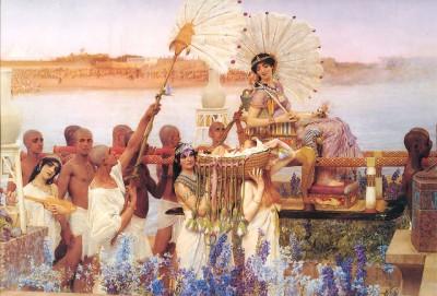 Lawrence Alma-Tadema: De vondst van Mozes (1904)