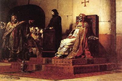 Jean-Paul Laurens: Paus Formosus en Stefanus VII [tegenwoordig VI] (1870).