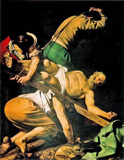 Caravaggio: De kruisiging van de apostel Petrus (1600-1601)