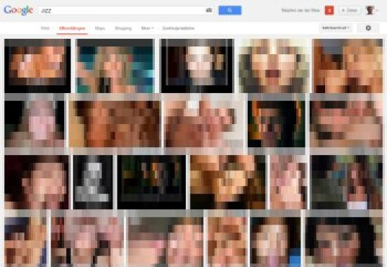 'Jizz' in Google Afbeeldingen (gecensureerd)