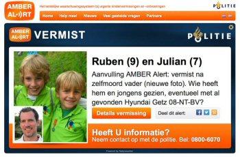 AMBER Alert voor Ruben en Julian