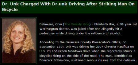 Dr. Unk, opgepakt wegens rijden onder invloed