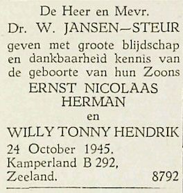 Vrije Stemmen, 29 oktober 1945