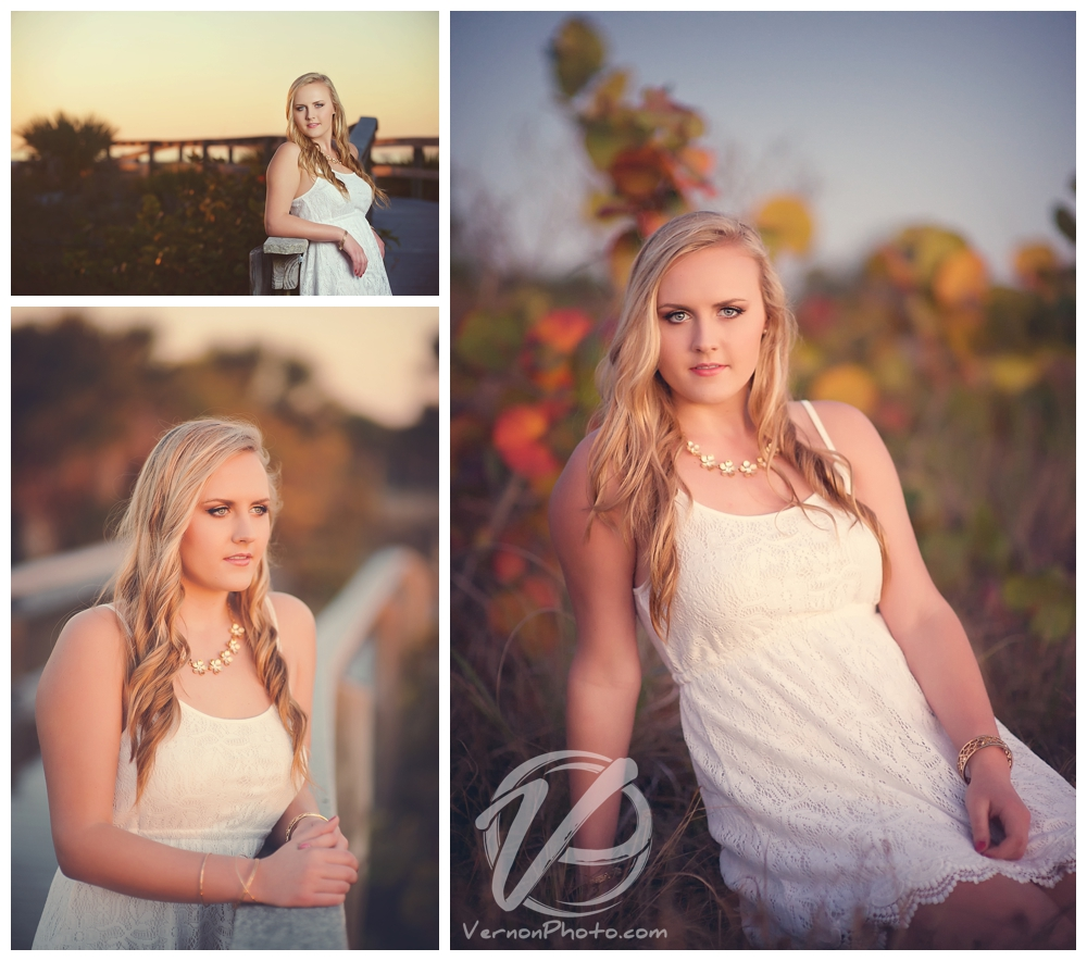Florida Sunset Senior Portraits by Vernon Photography