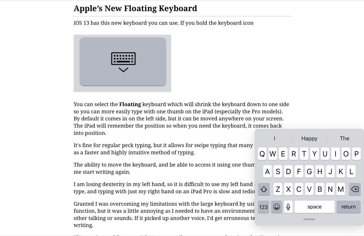 Apple's New Floating Keyboard