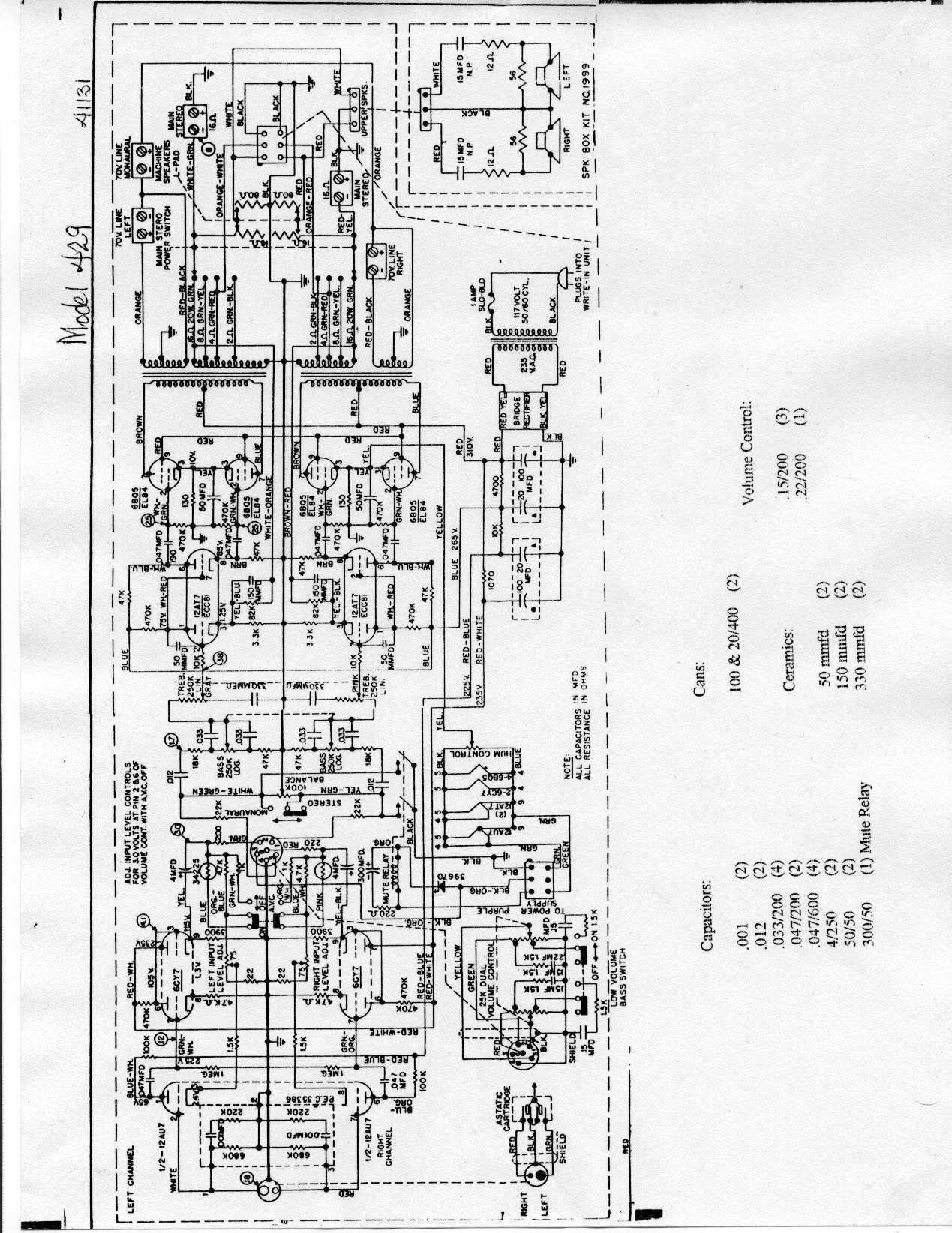 [Jukebox-list] wiring diagram for amplifier 41056-A (Rock