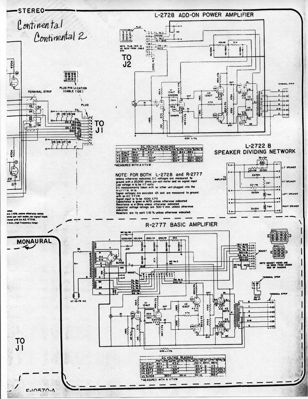 Correct Wiring Of Audio Output Transformer Ami Continental