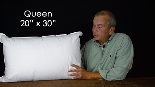 What are the most common size pillows used in bedding