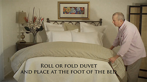 Making Your Bed With A Coverlet