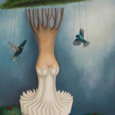 """La giostra 55x39"""" Oil on canvas 2014"""