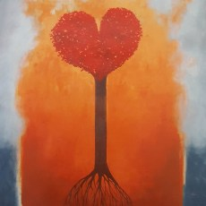 "The Love Tree 28x20"" Acrylic on wood, 2005  SOLD"