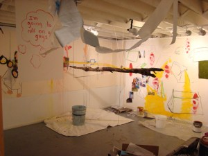 """Social Compost - Painting Machine in """"Cagefights and Collaborations"""""""