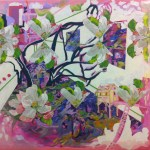 "Veronica Reeves, Spirit Survival Plan, 2014, oil on canvas, 24"" x 30"""