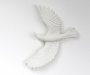 White porcelain Blackbird, Veronica Wilton