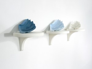 'Blue Trio' sculpture, Veronica Wilton