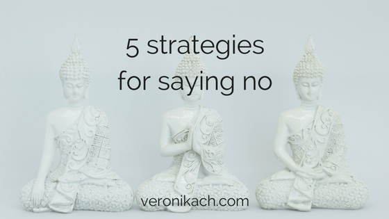 5 strategies for saying no