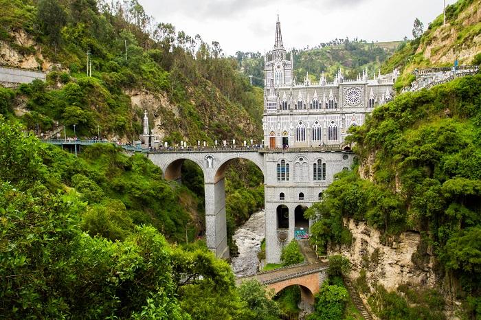 ipiales katedrala v kolumbii, co vidiet v kolumbii