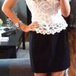 OOTD: Black, White & Lace