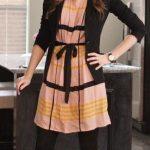 Jason Wu for Target Sleeveless Pleated Shift Dress in Blush Stripes with Black Belt